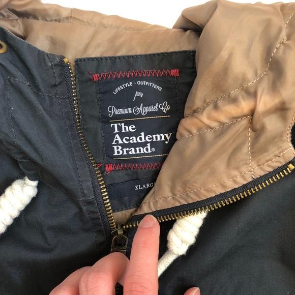 The Academy Anorak Tan/Navy Jacket - Size XL